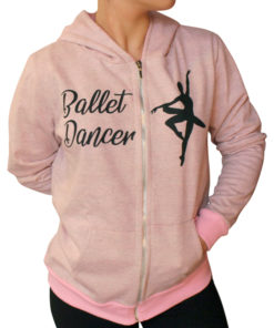 dansu hoodie ballet dancer rosa 1