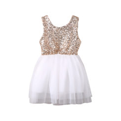 vestido princess gold